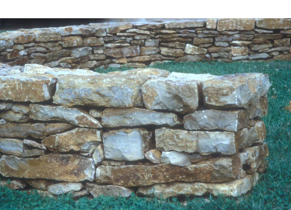 Detail of dry stone masonry.