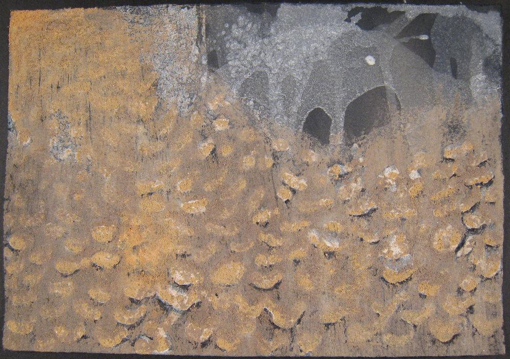 "A Cave in Turkey  2011  pigment from Cappadocia, Turkey, 5 5/8 x 8"""