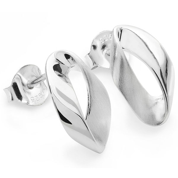 Silver mobius studs