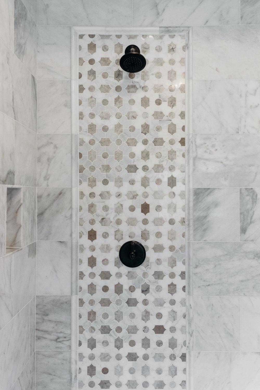 Tiled shower in master bath
