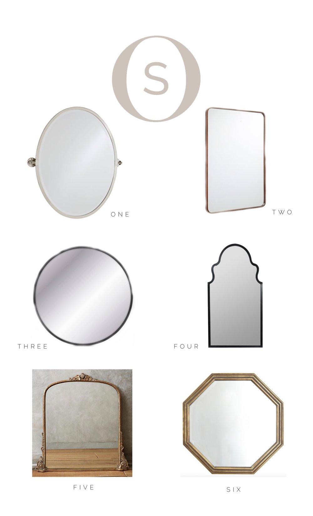 Vanity mirror round up for bathroom