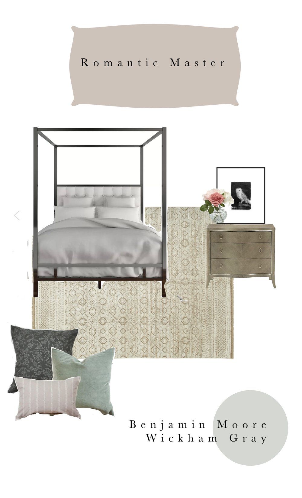 A romantic master bedroom for valentines day