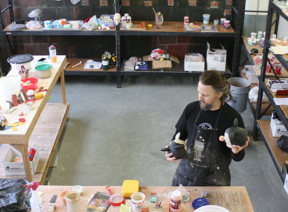 Tom Bartel working in Studio - February 2017