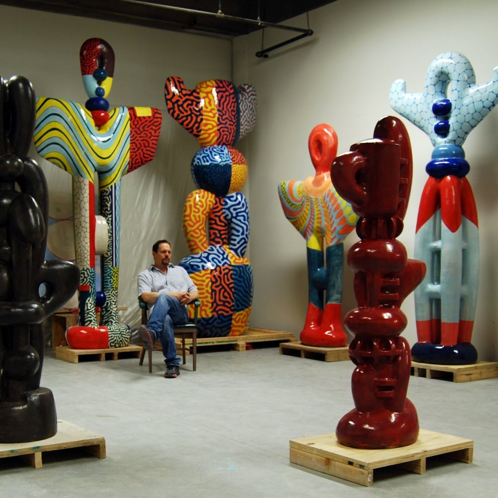 John Balistreri in studio, work with color (4), 2014.JPG