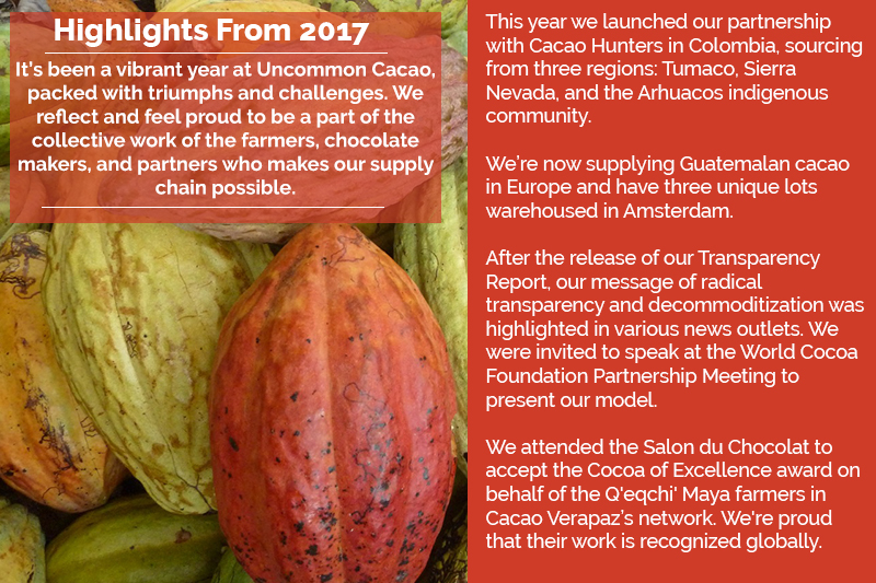 December Newsletter 2017 Uncommon Cacao