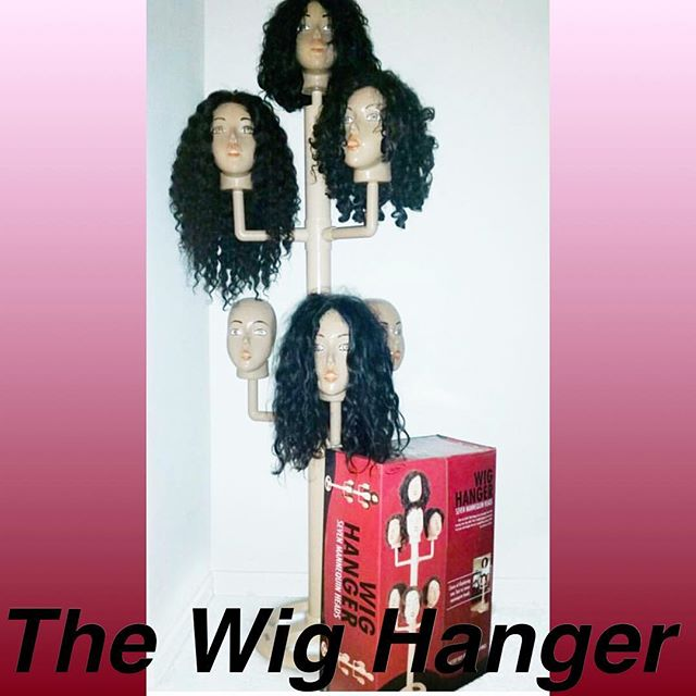 ✨The Wig Hanger is the better way to hang your wigs! We created this product because we knew there wasn't an adequate way to store your wigs besides styrafome heads etc. Wig Hanger allows proper storage and upkeep for your favorite wigs!! Order yours today!!! #Wigs #LaceWigs #FrontLaceWigs #WigHanger #WigCare #WigStorage