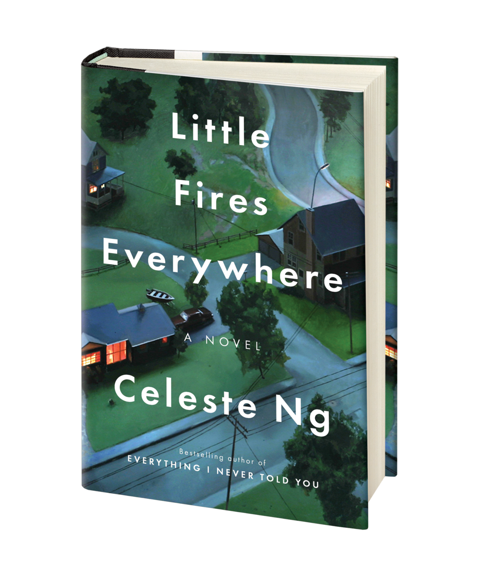 Celeste Ng - In Shaker Heights, a placid, progressive suburb of Cleveland, everything is planned – from the layout of the winding roads, to the colors of the houses, to the successful lives its residents will go on to lead. And no one embodies this spirit more than Elena Richardson, whose guiding principle is playing by the rules.Enter Mia Warren – an enigmatic artist and single mother – who arrives in this idyllic bubble with her teenaged daughter Pearl, and rents a house from the Richardsons. Soon Mia and Pearl become more than tenants: all four Richardson children are drawn to the mother-daughter pair. But Mia carries with her a mysterious past and a disregard for the status quo that threatens to upend this carefully ordered community.When old family friends of the Richardsons attempt to adopt a Chinese-American baby, a custody battle erupts that dramatically divides the town--and puts Mia and Elena on opposing sides.  Suspicious of Mia and her motives, Elena is determined to uncover the secrets in Mia's past. But her obsession will come at unexpected and devastating costs.