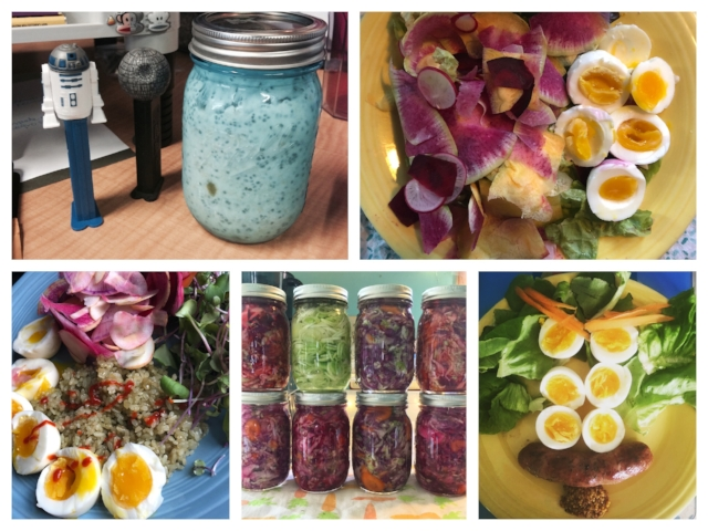 Overnight Oats, snack plates, leftovers from dinner, and meals in a jar are all ways to make lunch great again. Mason jars are great because they're inexpensive, very re-usable, and they take up less space in the workplace fridge.