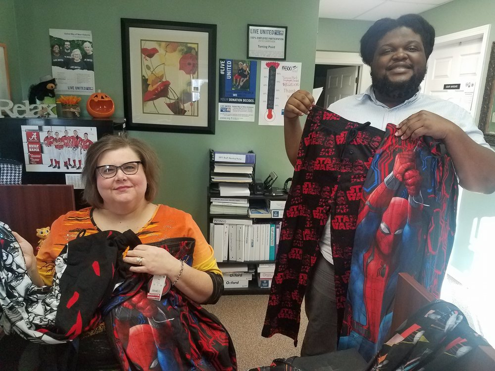 Special thank you to Captian Robert Shepherd of Fort Gordon, Georgia for donating sweatpants to Turning Point. We are still in need. Thanks!