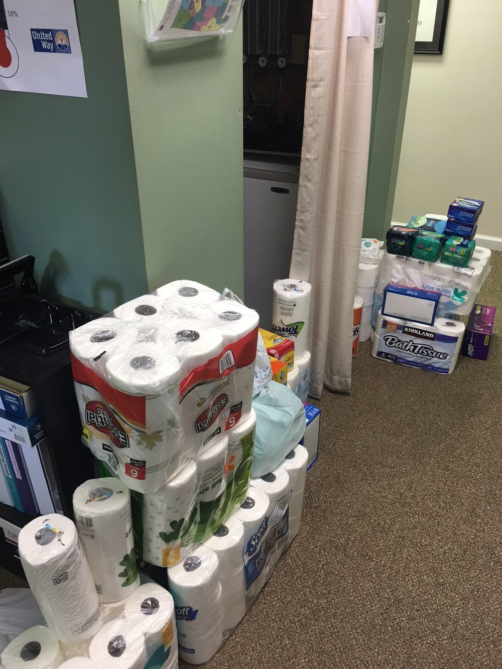We would like to give a special thanks to the University of Alabama Law School's Dorbin Society for giving us donations in the form of toiletry, and personal care items.
