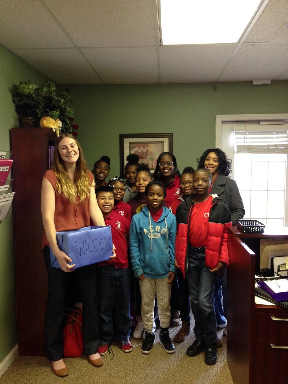 These lovely students from  Central Elementary School  dropped off donations they have been collecting since October. We're grateful for their big hearts & support! They are pictured with our Court Advocate, Alli.
