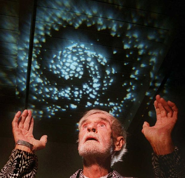 Timothy Leary, shown at his home in 1995, a year before his death. Dr. Leary, who coined the phrase 'turn on, tune in and drop out,' became a 1960s counterculture icon for extolling the benefits of psychedelic drugs.