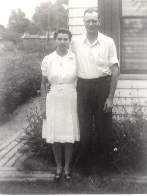The Harvey parents, circa 1940