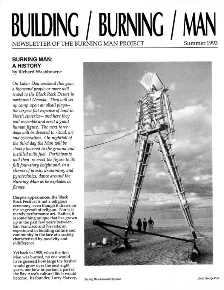 Building Burning Man 1993