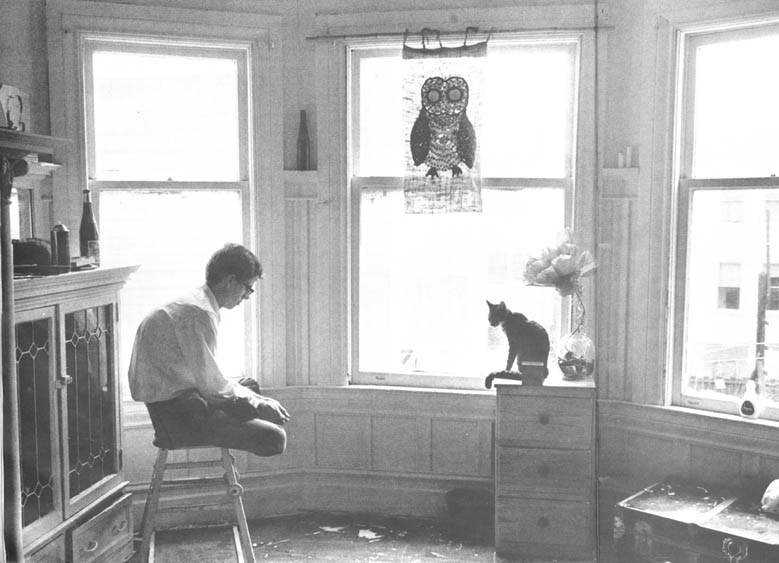A San Francisco mathematician takes a trip on LSD with his cat, who is on the drug too. He does this every other week.