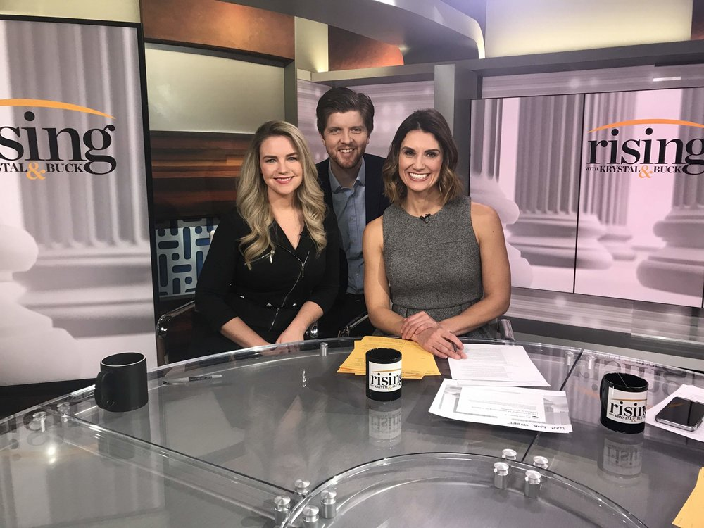 """CEO and Founder, Audrey Henson sit down with Hill.TV's Buck Sexton and Krystal Ball on """"Rising.""""   Click here to watch the full video on TheHill.com/HillTV"""