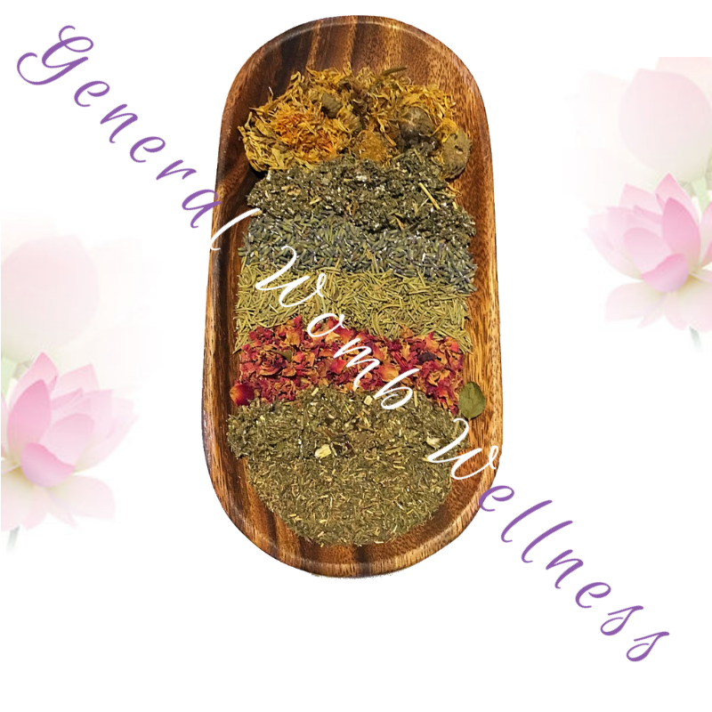 This all-purpose blend is for a wide range of benefits- the go-to blend for overall womb wellness. This blend increases blood circulation within the reproductive organs and addresses stagnation. They assist in toning the pelvic floor, healing vaginal scars and may reduce hemorrhoids.