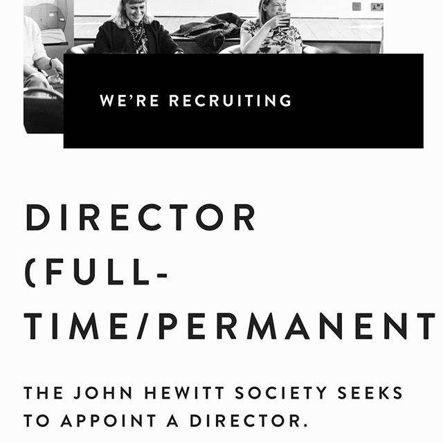 JOB OPPORTUNITY!  Follow the link in the bio to find out more... . . . . . . #jobfairy #job #arts #books #reading #education #poetry #community #northernireland #discoverni #writing #director #sector #jobs