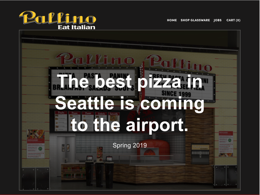 Pallino Restaurant - The best pizza in Seattle is coming to the airport. Pallino Restaurant is remodeling and updating their brand. I created this Squarespace site to cover the transition. Click the image to visit the site.