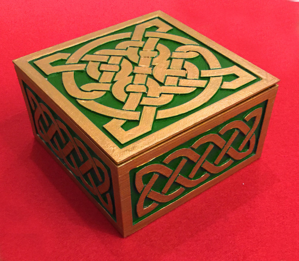 Celtic style 3D printed box