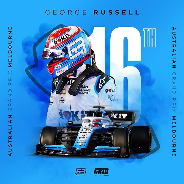 So first race done ✅. Congrats to @georgerussell63 on his first race. What a buzz! Still a bit unreal our logo is in @f1 ! Here's to that position number coming down as the season progresses 💪  #GR63 #georgerussell63 #williamsracing #rokitwilliamsracing #thankyoucharlie #formula1 #f1 #motorsport #ausgp #melbourne #racing