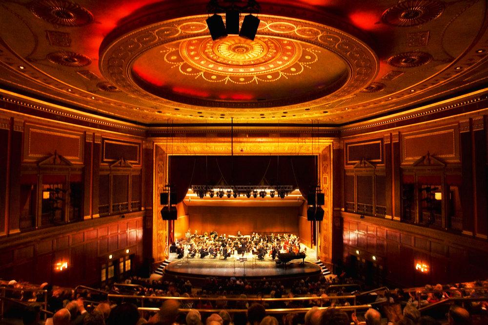 The exquisite interior of Patriots Theater at the War Memorial in Trenton, NJ
