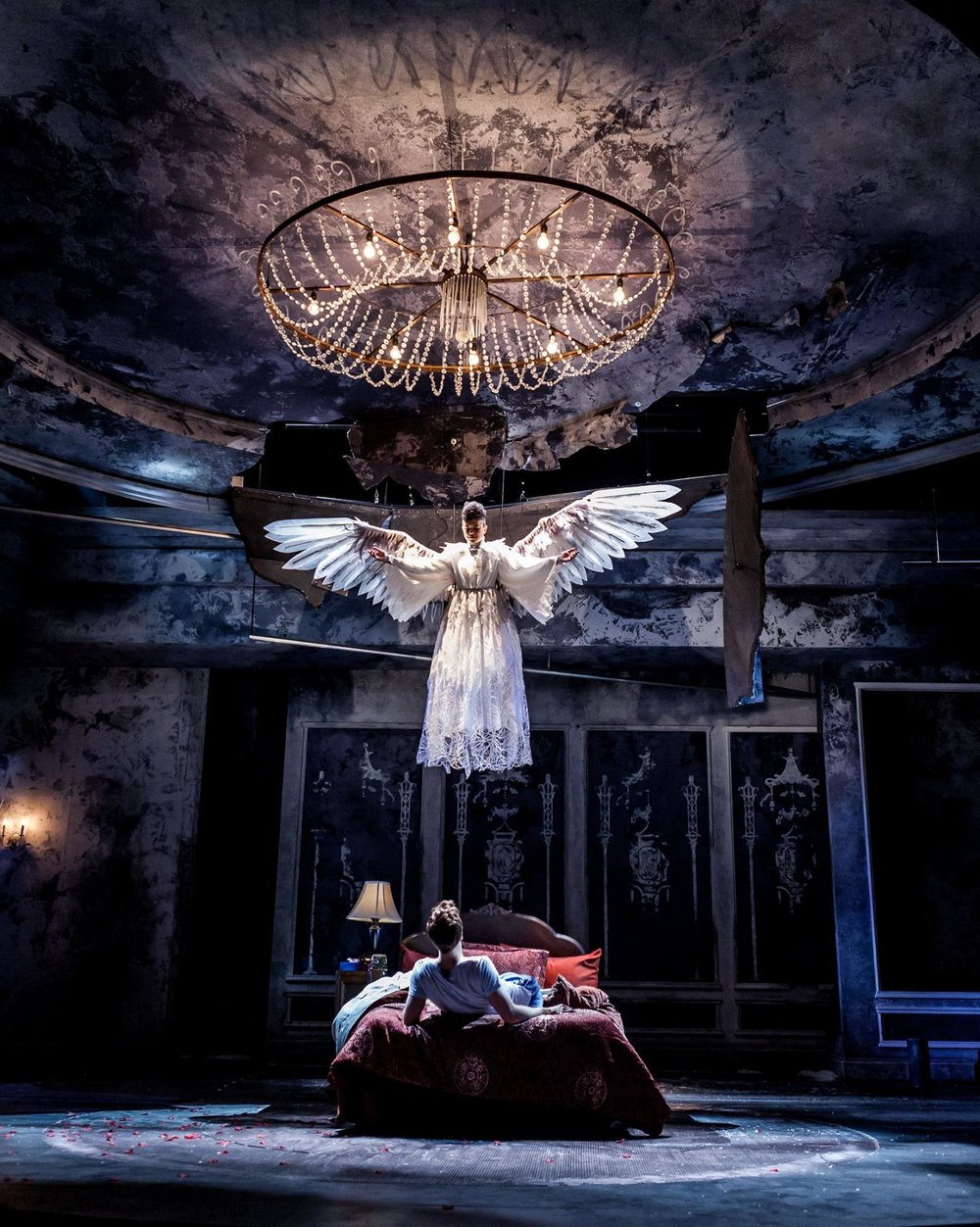 Mark Junek and Rami Margron in Angels in America, Part One, Millennium Approaches, 2017. Photo by Bill Brymer.jpg