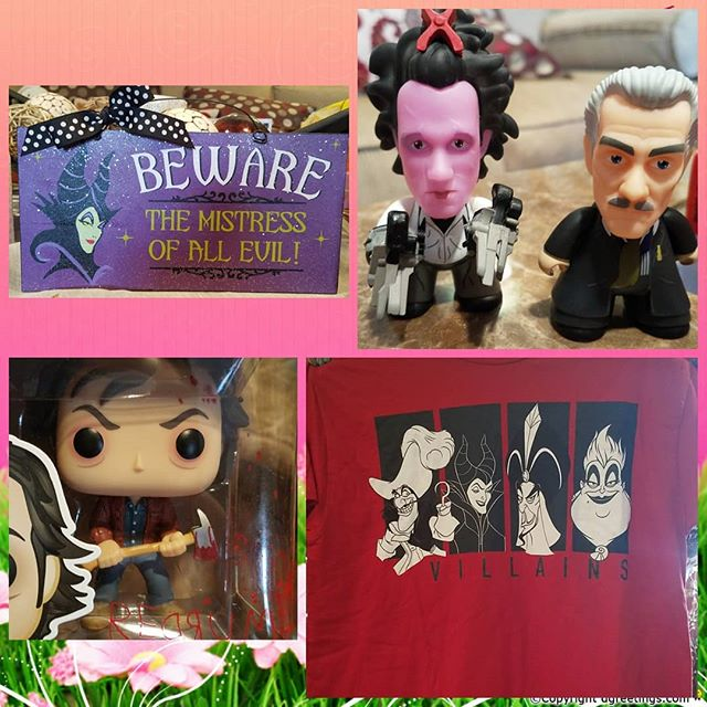 Some amazing #eastergifts from people I love so dearly and know me so well!  #disneyvillains #edwardscissorhands #theshining #happyeaster🐰