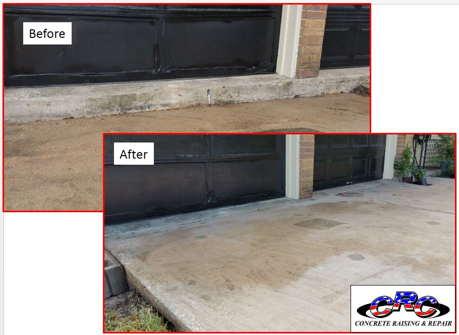 """RESIDENTIAL DRIVEWAY RAISE 6"""" USING CEMENTITIOUS SLURRY"""