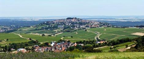 The village of Sancerre, perched 1000ft above the Loire River