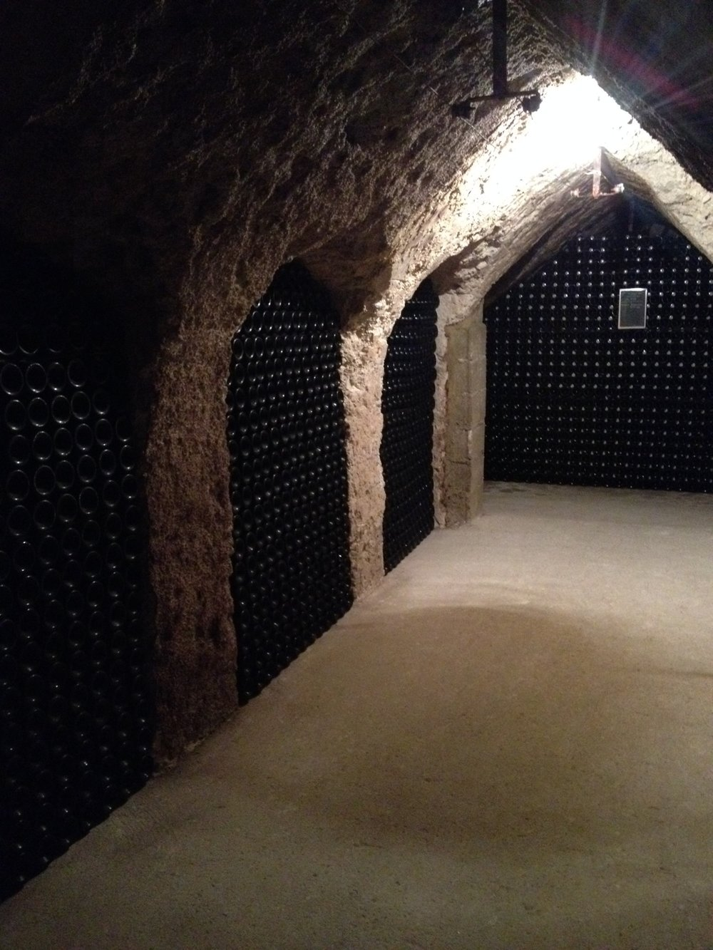 Cellars cut into the living rock