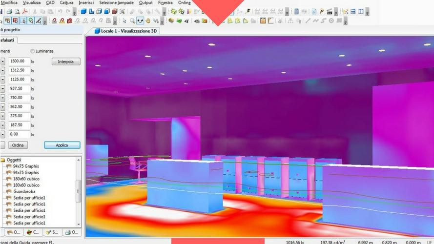 3. ANALISI DELL'ILLUMINAZIONE - La simulazione illuminotecnica è un momento fondamentale delprogetto. Lumenlab effettua verifiche sull'efficienza e distribuzionedella luce, per verificare che il sistema di illuminazione sia adatto allerichieste del cliente.