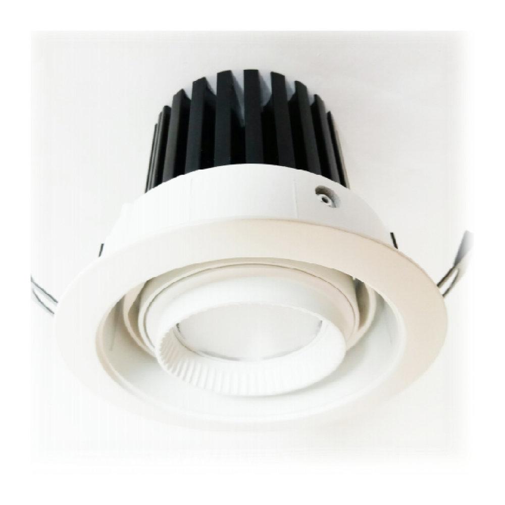 BREDA 2000 - Downlight - Faro orientabile da interni per installazione ad incasso. Realizzato in alluminio e verniciato a polvere bianco e nero. Sistema di fissaggio a pannello tramite una coppia di molle.Led raffreddato passivamente con dissipatore in alluminio anodizzato nero.Montaggio e smontaggio senza utensili. Disponibile in temperatura 3000 K, 4000 K e 5000 K e con ottica da 25 a 40 gradi.Led ad alta efficienza energetica.Disponibile con CRI ≥ 93.Prodotto fornito con alimentatore.I dati indicati sono valori caratteristici per una temperatura ambiente di 25°C. I dati relativi al flusso luminoso sono soggetti ad una tolleranza del +/- 5%