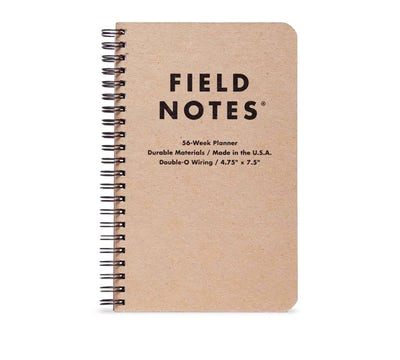 Field Notes - If you're looking for an undated planner, this is the one for you according to my followers. I've used other Field Notes notebooks for note taking and quick sketches and I love them while I'm on-the-go due to their small size. The price point for this one is $15 and I love that it's spiral bound so it will lay flat, which makes writing down your plans so much easier imo. Thanks Draplin!