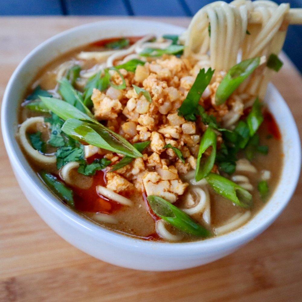 Spicy Vegan Ramen Soup