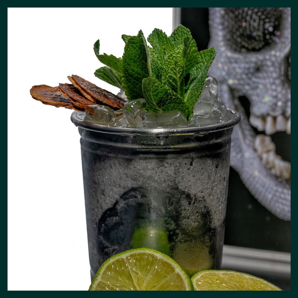 HOXTON BANANA MOJITO - 50ml Hoxton Banana Rum.15ml lime.15ml sugar.8 mint leaves.Top with crushed ice.