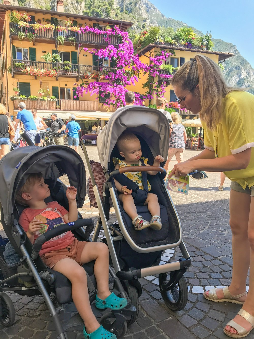 On a day trip to Limone sul Garda, Italy.