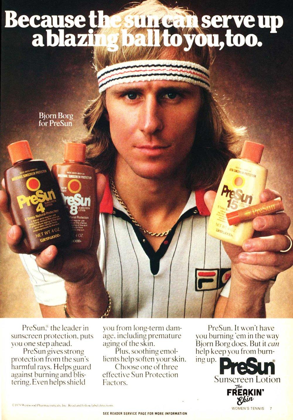 Bjorn Borg 1980 Richie Tenenbaum Wes Anderson vintage ad   The Freakin  Ekin 536146125e2