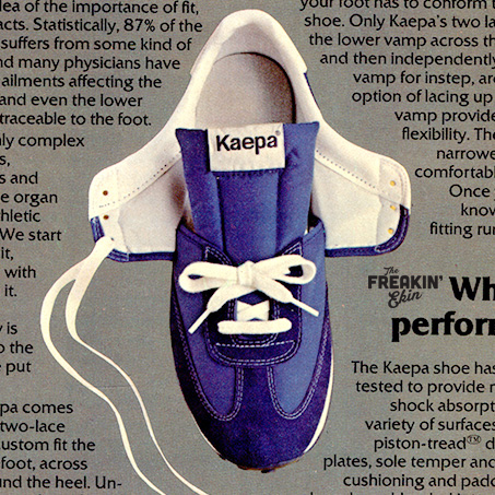 Kaepa 1979 vintage sneaker ad