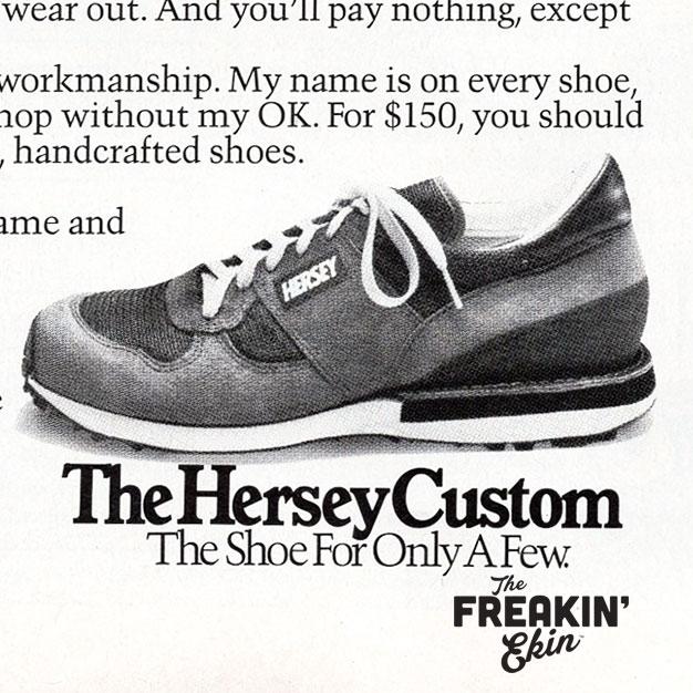 8a1a0e2ffec895 The Freakin  Ekin. A vintage sneaker blog. — Hersey custom 1984 vintage  running shoes ad