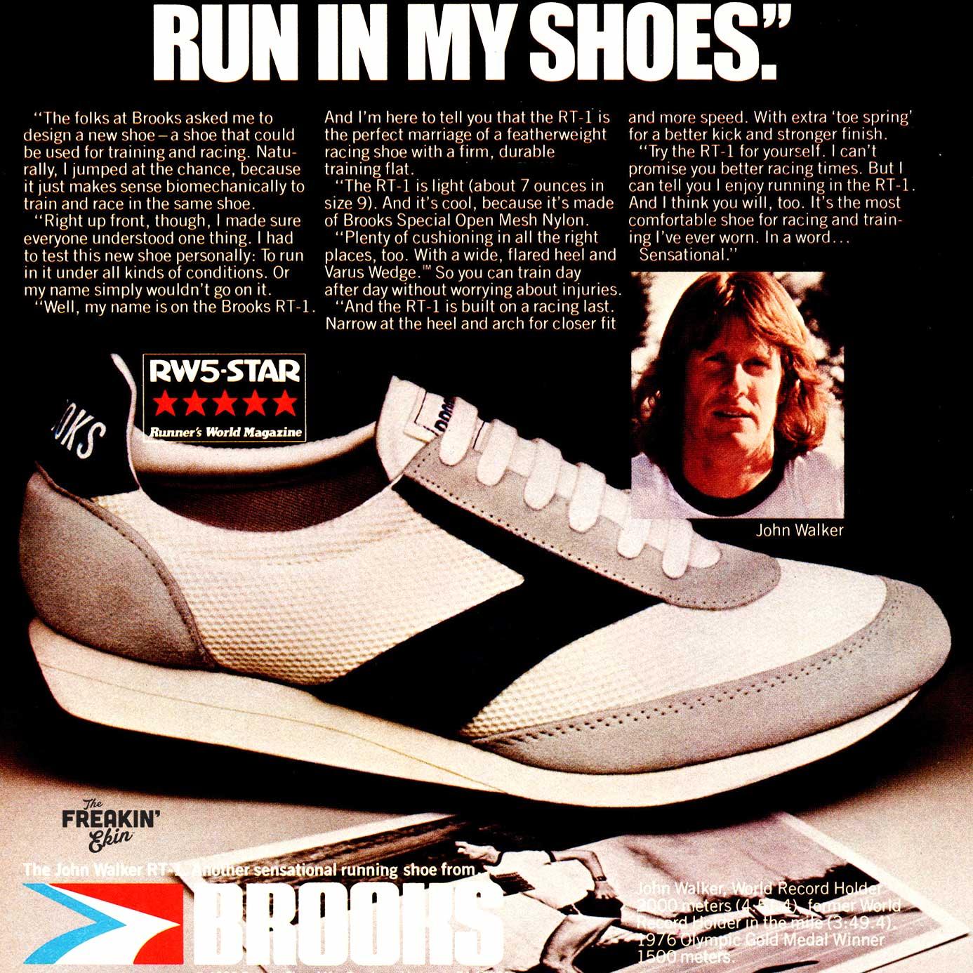 vintage sneaker ad featuring John Walker