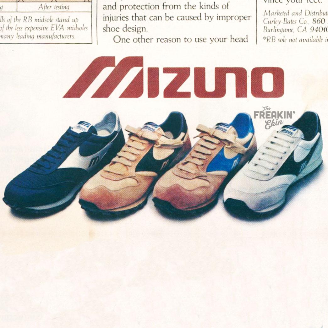 Mizuno 1981 vintage sneaker ad