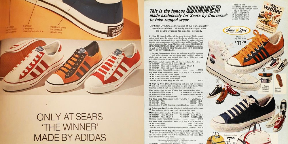 Sears the Winner 1974 vintage shoes by Converse   Adidas   The Freakin  Ekin 1735a931c