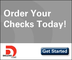 order your checks today! get started