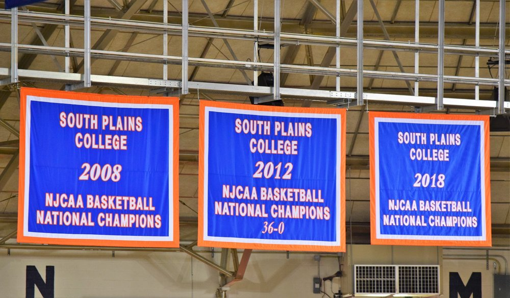 South Plains College 2008, 2012 and 2018 NJCAA Basketball Champions