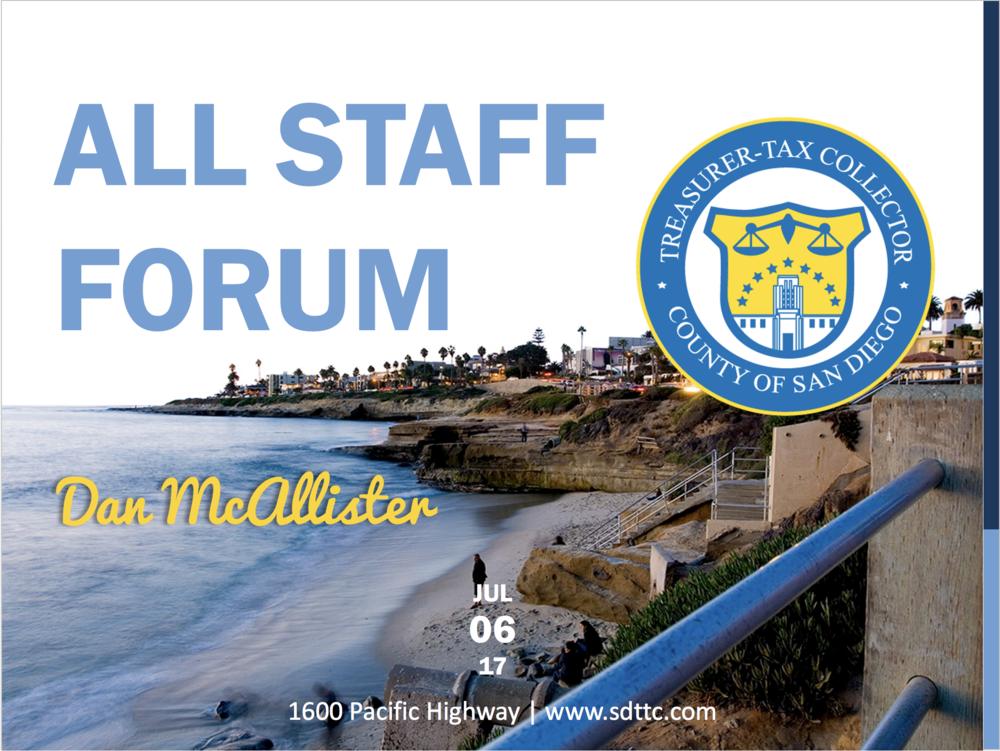 All Staff Forum Presentation
