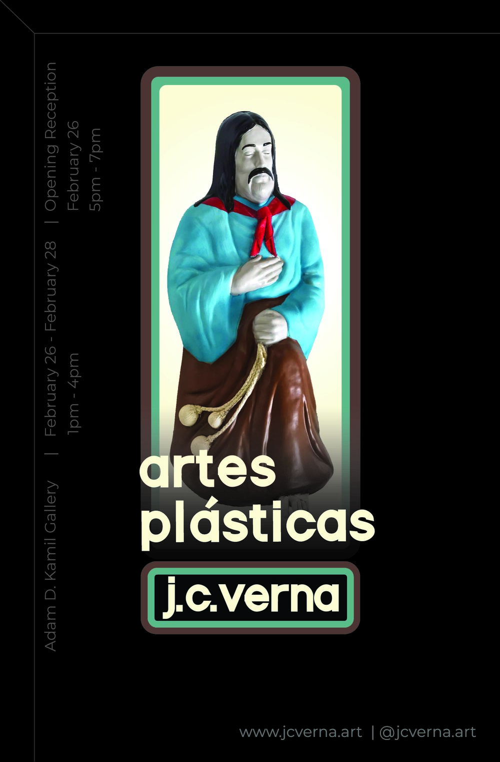 Artes Plásticas - February 26 - February 281pm - 4pmAdam D. Kamil Gallery9500 Gilman Dr, La Jolla, CA 92093Free and open to the publicOpening Reception: February 26th, 5pm - 7pm