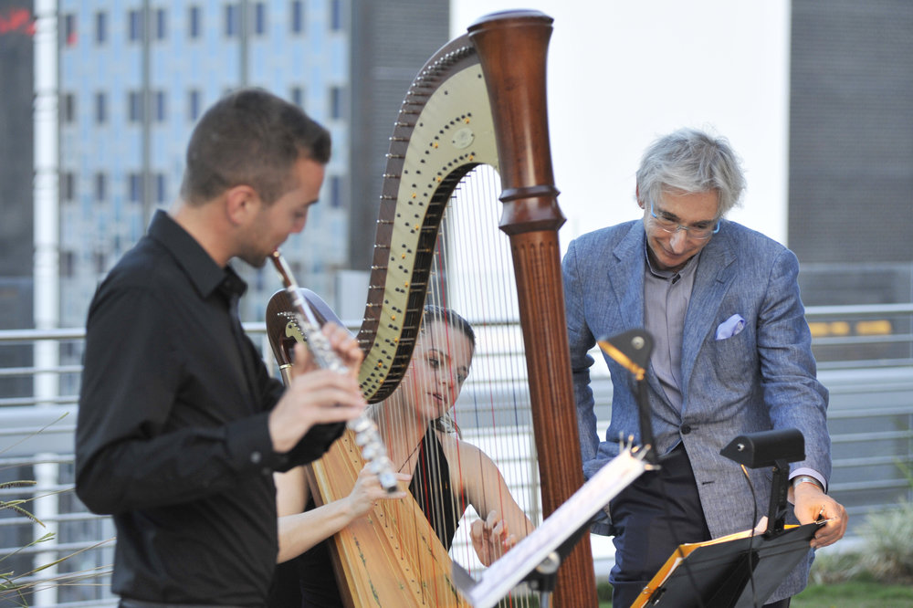 2014: Performing for a reception honoring MTT with Henrik Heide on top of the New World Center!