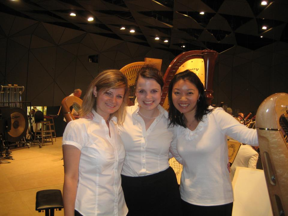 Tanglewood on Parade 2011: Post-performance with BSO harpist Jessica Zhou and Tomina Parvanova