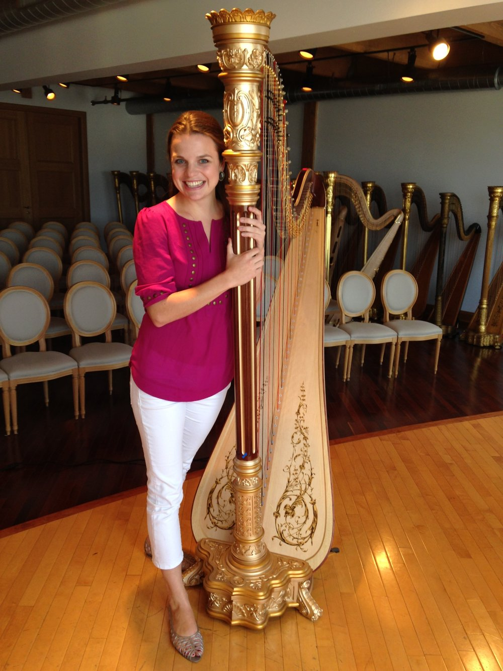 Chicago 2014: Picking out my new harp from the Lyon & Healy Factory!